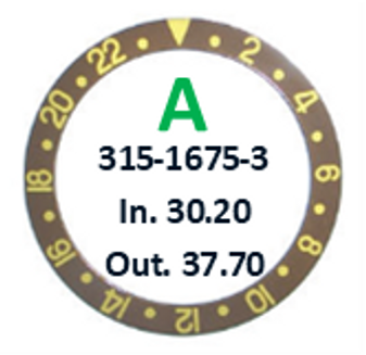 Bezel Insert, Rolex #315-1675-3 (Generic)