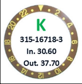 Bezel Insert, Rolex #315-16718-3 (Generic)