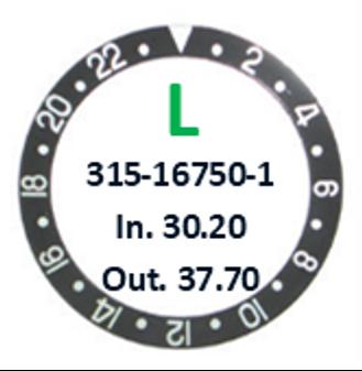 Bezel Insert, Rolex #315-16750-1 (Generic)