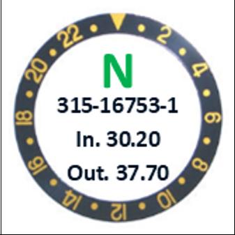 Bezel Insert, Rolex #315-16753-1 (Generic)