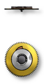 Date Driving Wheel, Sellita SW200-1 #2556