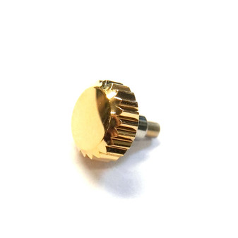 Crown, Rolex Screw Crown, Gold Plated, Ø6.00mm #24-600 (Generic Swiss)