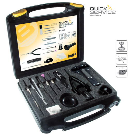 Watchmakers Quick Service Toolkit and Case, Bergeon 7812