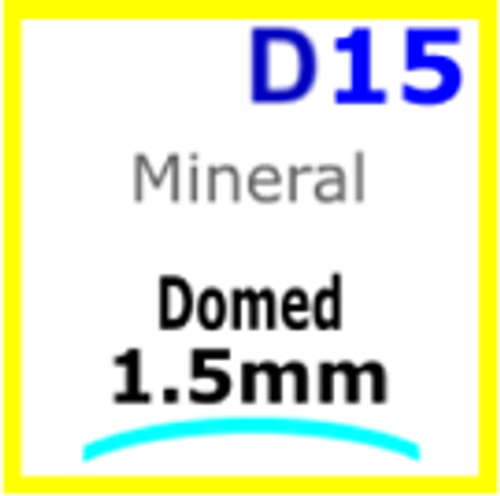 Glass, Domed 1.5mm (D15)