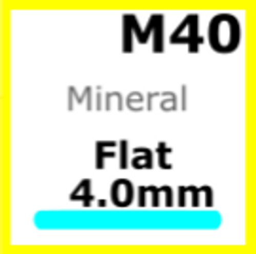 Glass, Flat 4.0mm (M40)