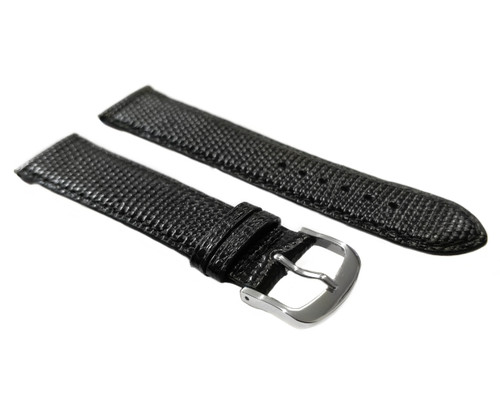 Strap, Lizard Print with Stitching, Black