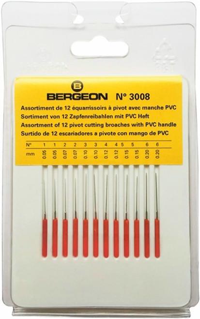 Broaches, Pivot Cutting Set (Bergeon 3008)