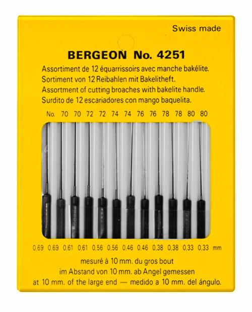 Broaches, Set of Pivot (Bergeon 4251)
