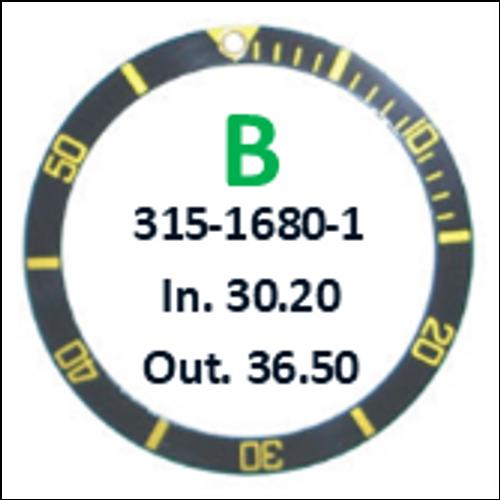 Bezel Insert, Rolex #315-1680-1 (Generic)