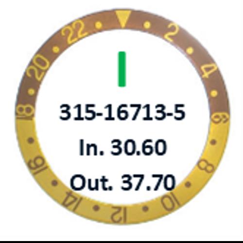 Bezel Insert, Rolex #315-16713-5 (Generic)
