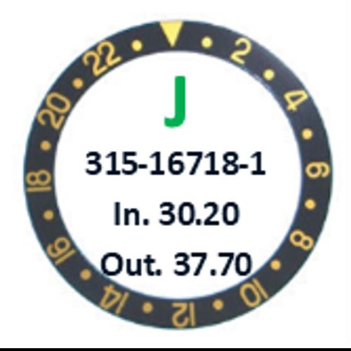 Bezel Insert, Rolex #315-16718-1 (Generic)