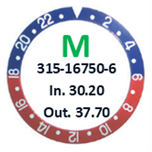 Bezel Insert, Rolex #315-16750-6 (Generic)