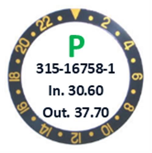 Bezel Insert, Rolex #315-16758-1 (Generic)