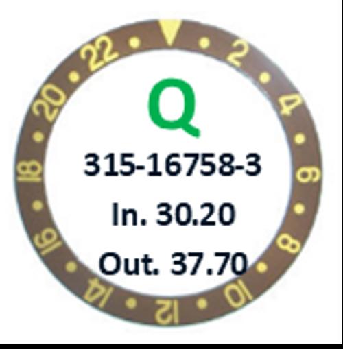 Bezel Insert, Rolex #315-16758-3 (Generic)