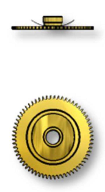 Hour Wheel, Height 2 = 1.25mm, Sellita SW200-1 #255