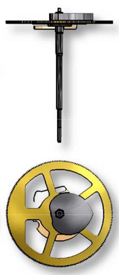 Chronograph Wheel, Height 1, Sellita SW500 #8000