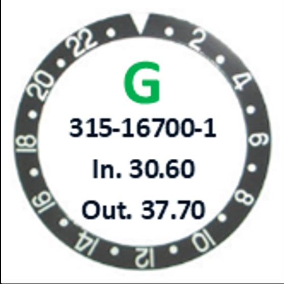 Bezel Insert, Rolex #315-167000-1 (Generic)