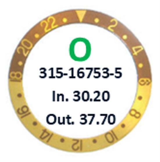 Bezel Insert, Rolex #315-16753-5 (Generic)