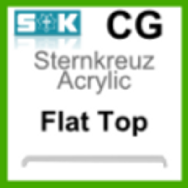 Acrylic Glass, Flat Top (CG)