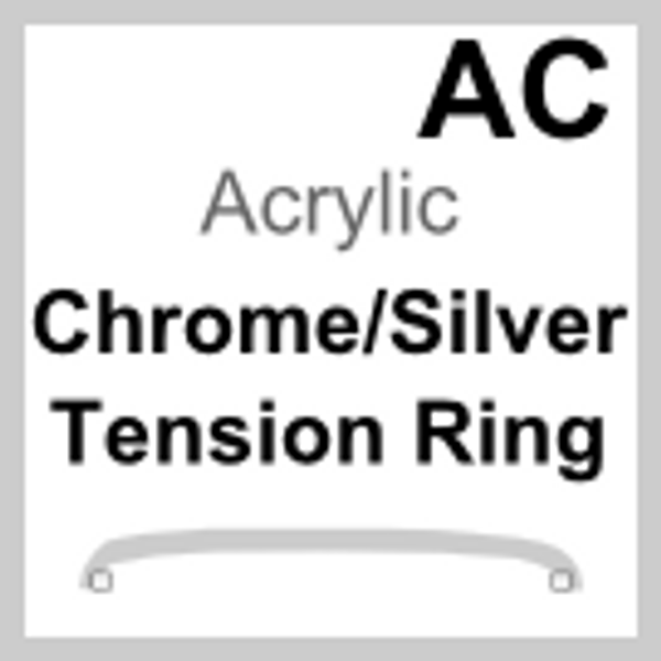 Acrylic Glass, Tension Ring Stainless Steel (AC)