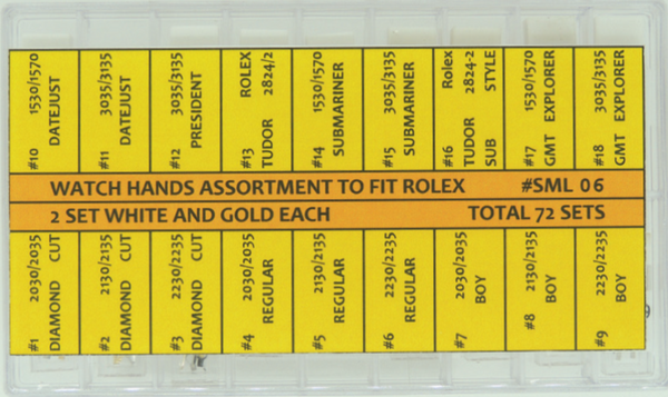 Assortment, Rolex Hands (Generic) SML06