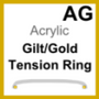 Acrylic Glass, Tension Ring Gold Plated (AG)