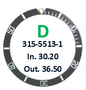 Bezel Insert, Rolex #315-5513-1 (Generic)
