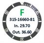 Bezel Insert, Rolex #315-16660-81 (Generic)