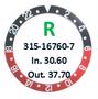 Bezel Insert, Rolex #315-16760-7 (Generic)
