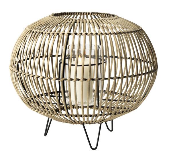 Lantern Egehjort D32xH26 bamboo
