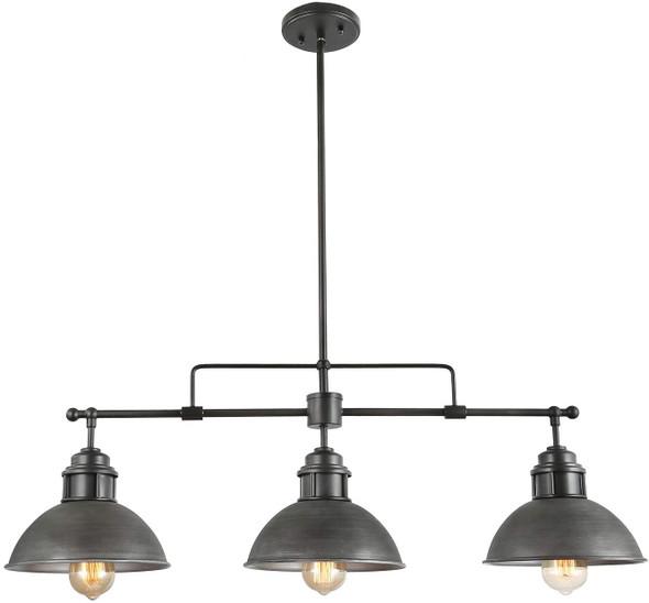Pendant Lighting for Kitchen Island, Black Chandelier in Brushed