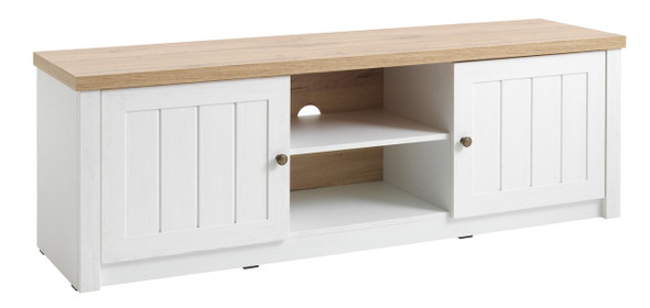 TV bench Markskel 2 door white/oak