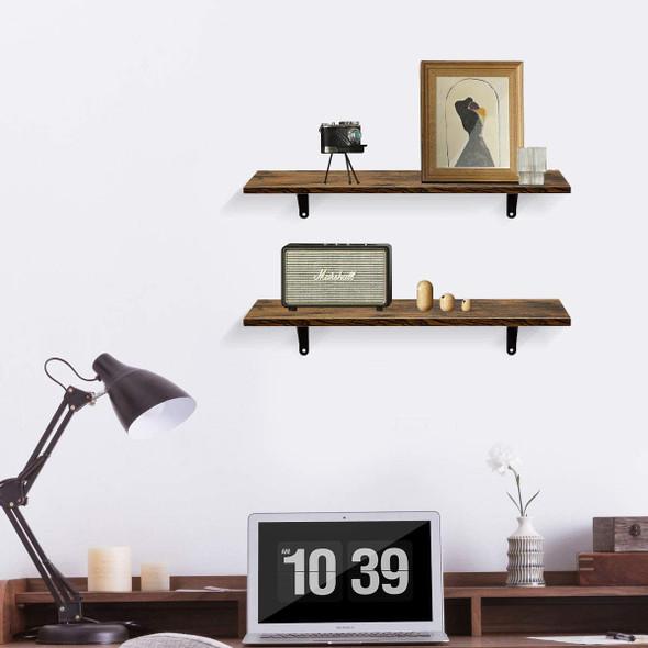 Wall Mounted Floating Shelves, Set of 2, Display Ledge