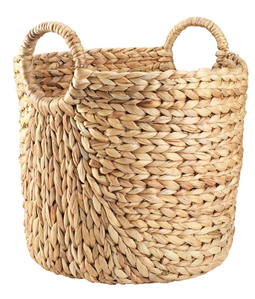 ML-4002 Tall Water Hyacinth Wicker Basket with Handles