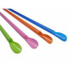 Compostable Wrapped Spoons Straws (Assorted Colors) - 10 inch