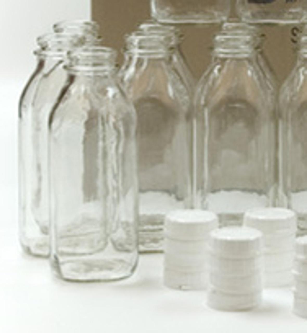 Glass Quart Milk Bottle with Lid - 32oz