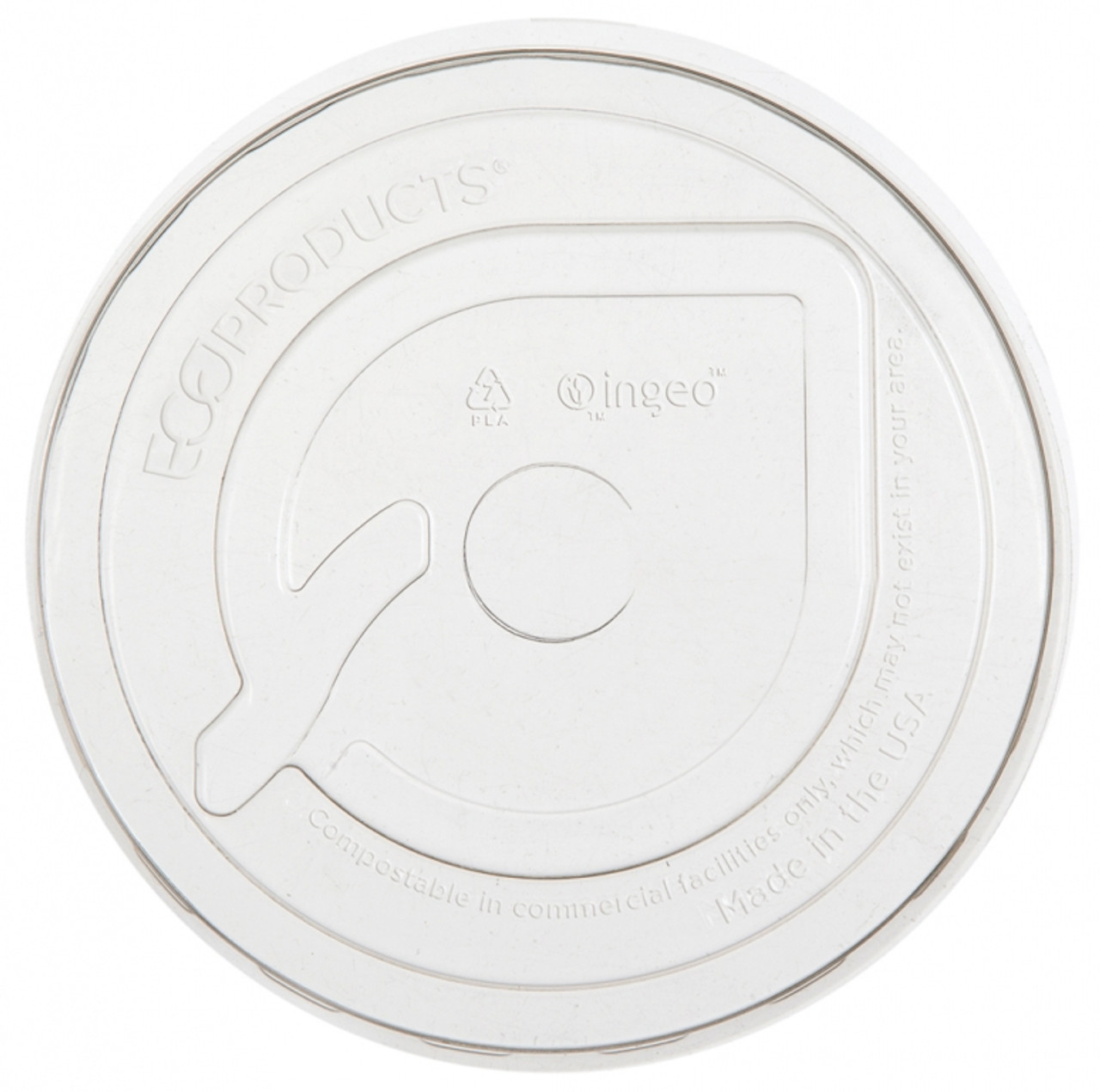 Flat lid for compostable cold cups