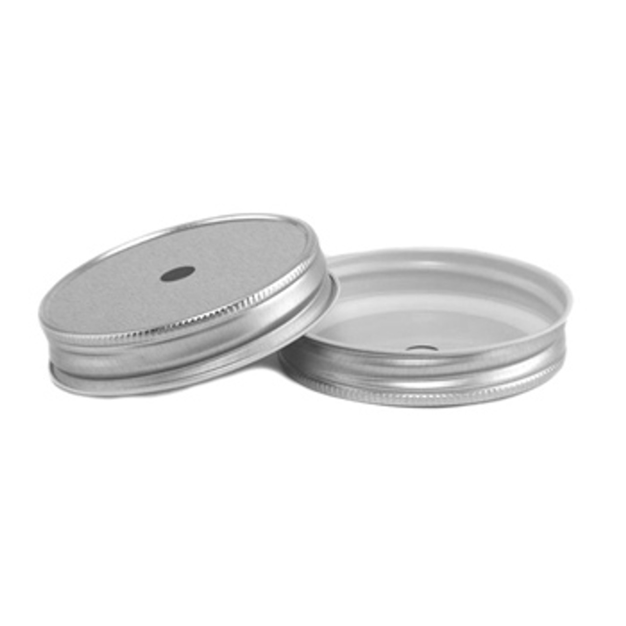 Metal Mason Jar Lid with Straw Hole - Regular