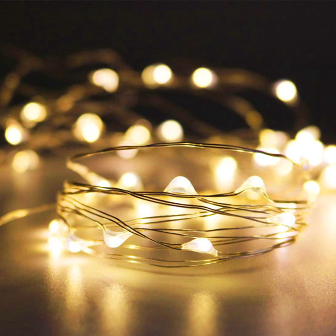 Fairy Lights 16ft, 50 Warm White LEDs with AA Pack