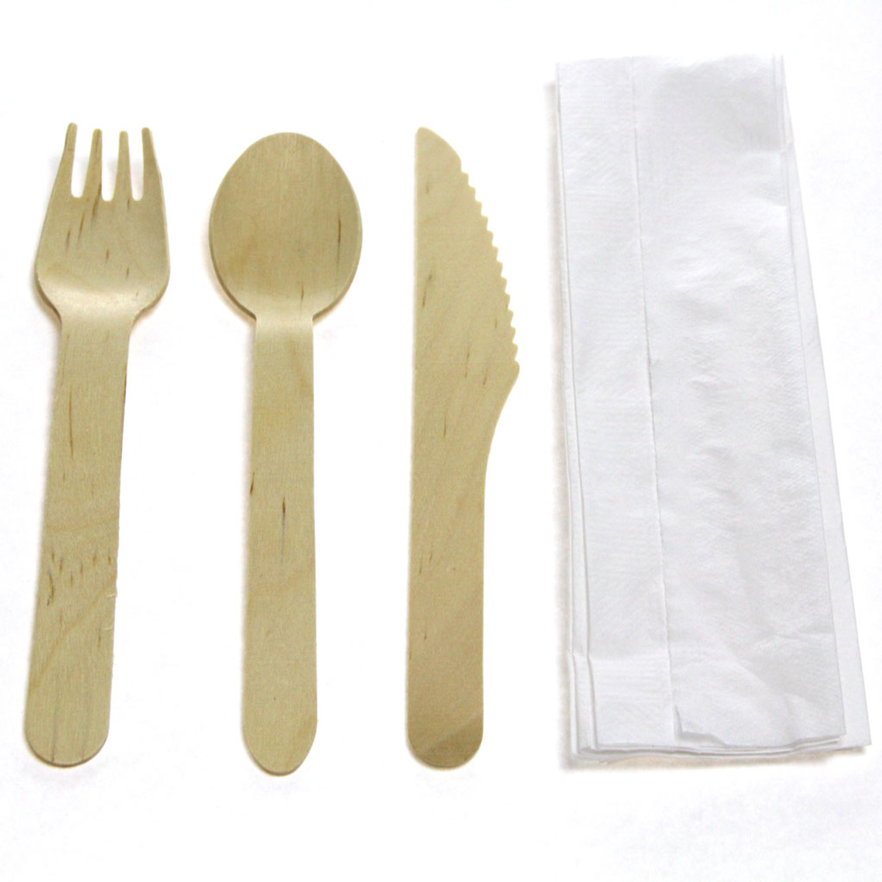 Wooden Cutlery Kit with Napkin