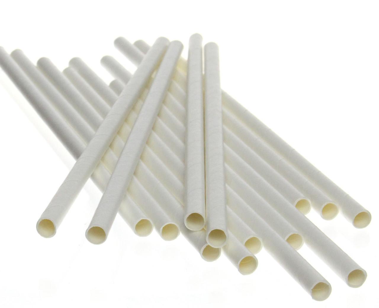 """7.75"""" Standard White Paper Straws"""