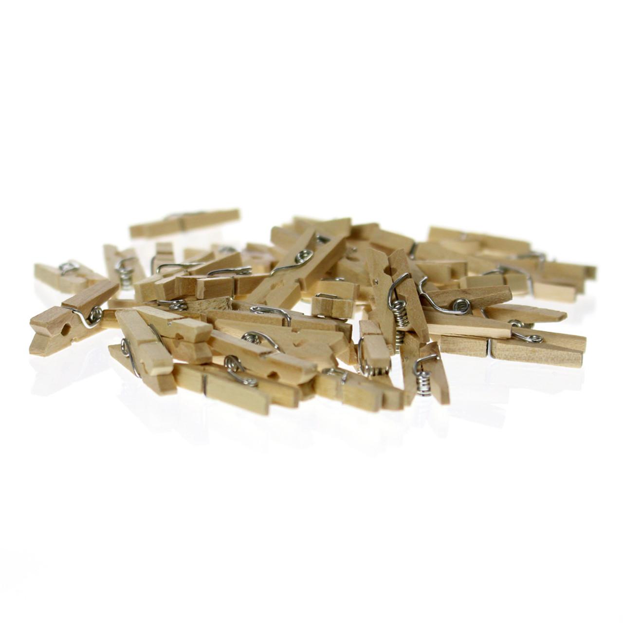 Mini Wood Clothespins - 50pcs