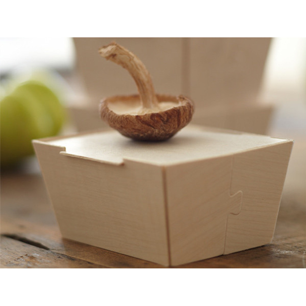 """Petite Wooden Box With Lid 3"""" x 4"""""""