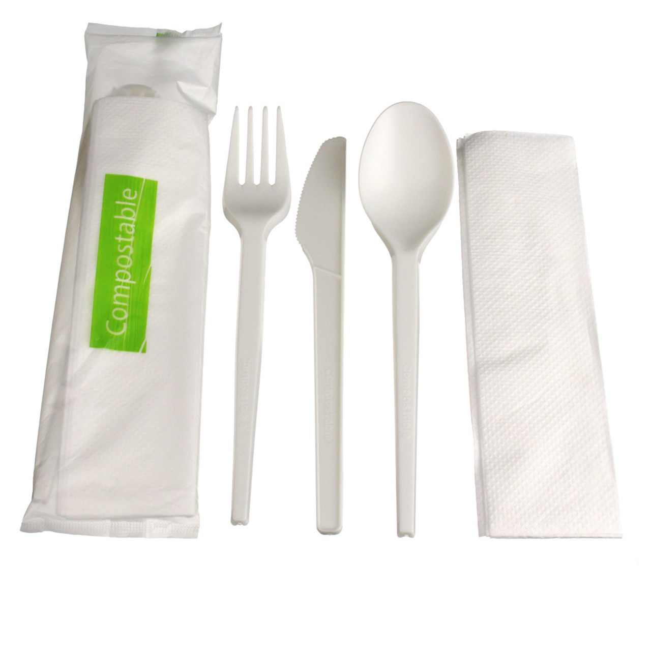 Compostable Medium Weight Cutlery Kit - 4pc