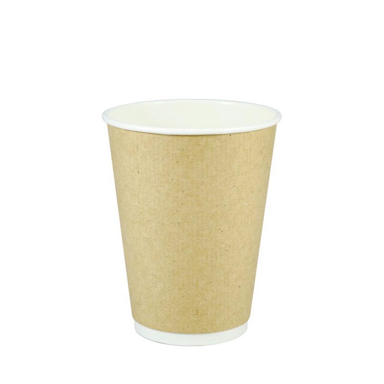Kraft Double Wall Hot Cups - 8oz