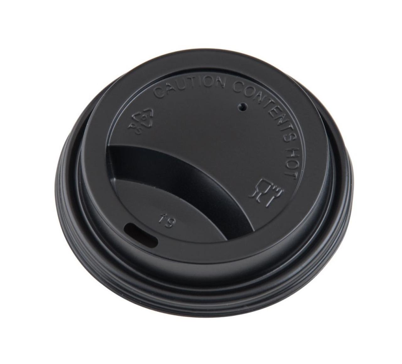 Hot Cup Lids - Black - 8oz