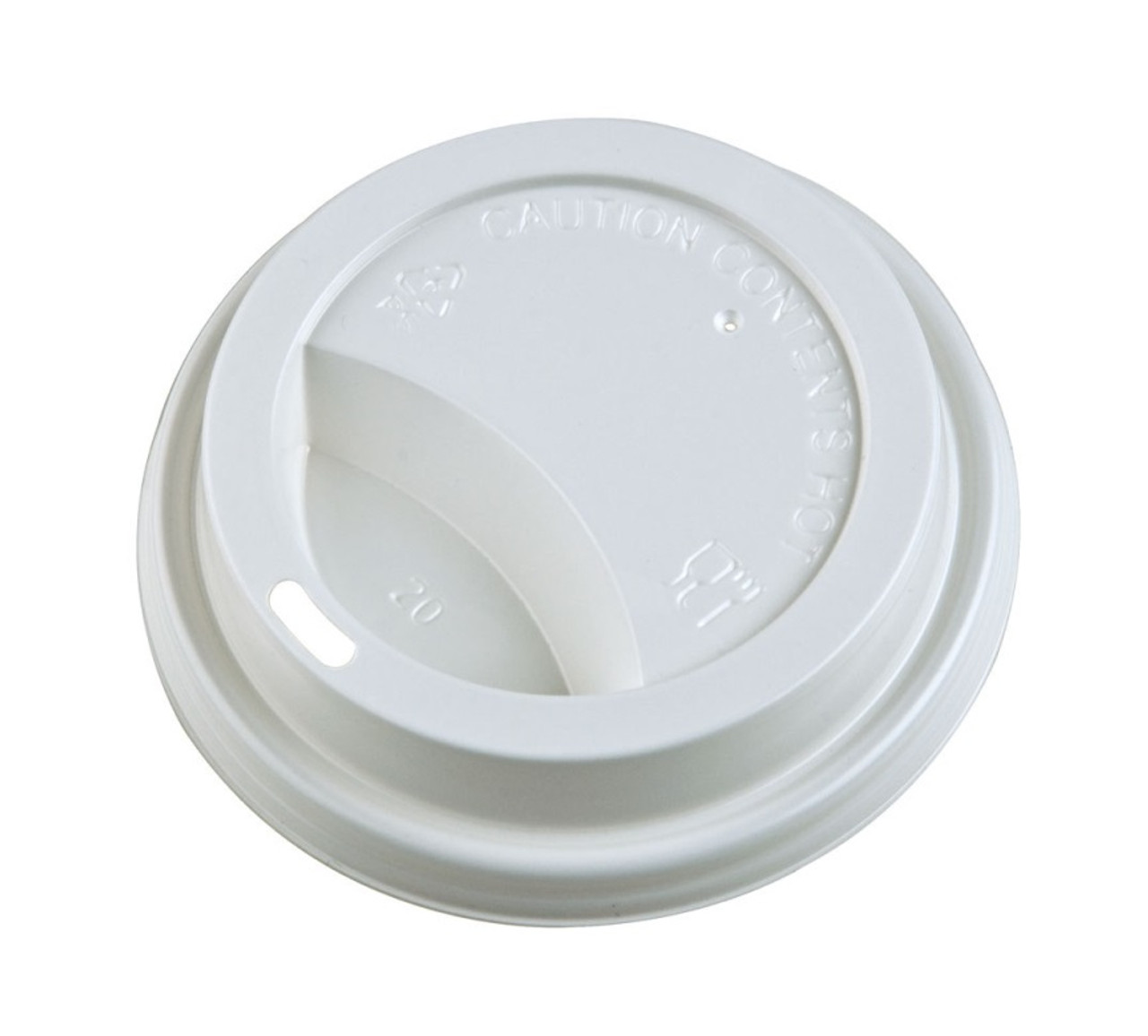Hot Cup Lids - White - 8oz