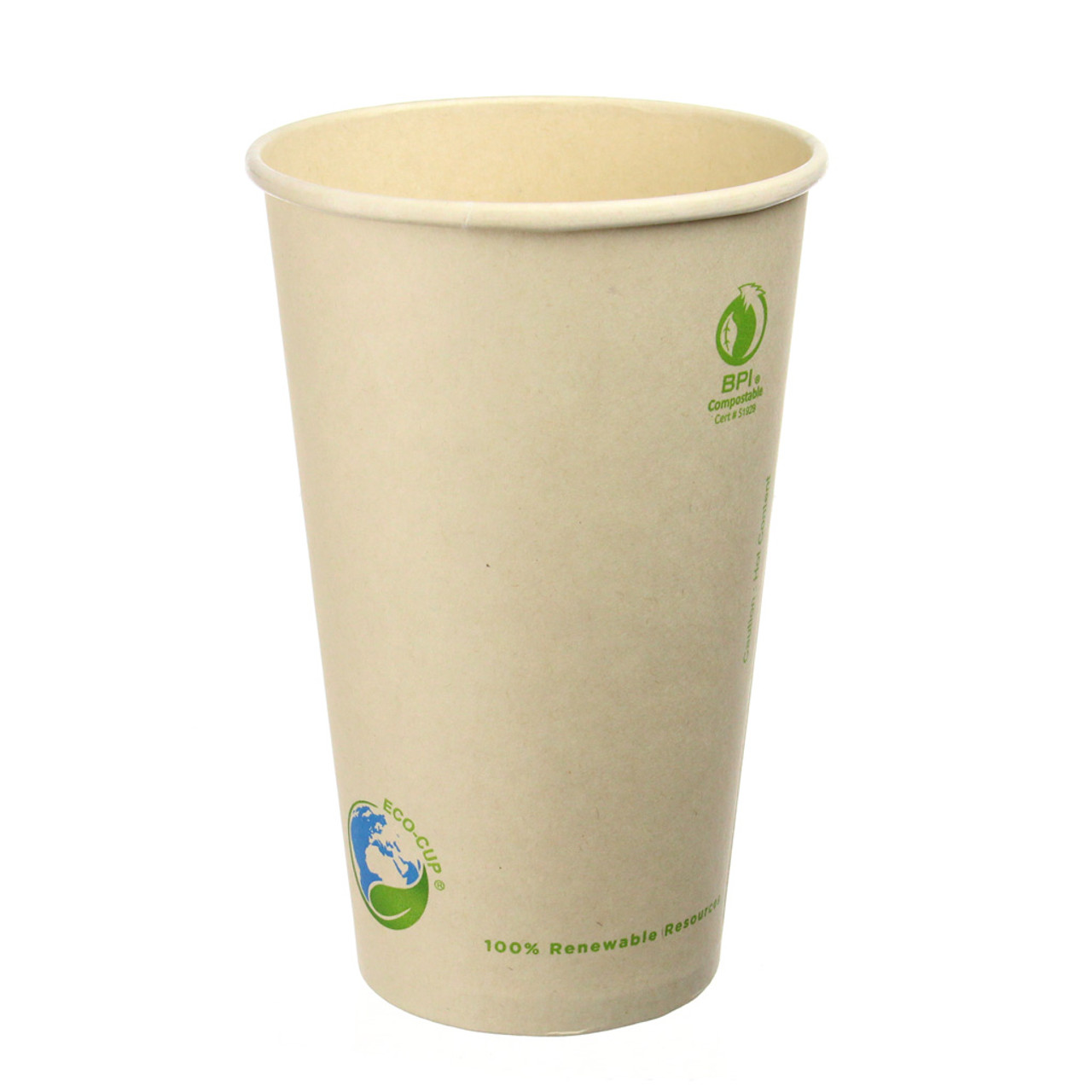 16oz Bamboo Fiber Compostable Coffee Cups