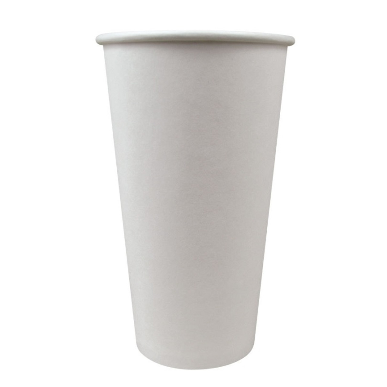20oz white paper hot cup