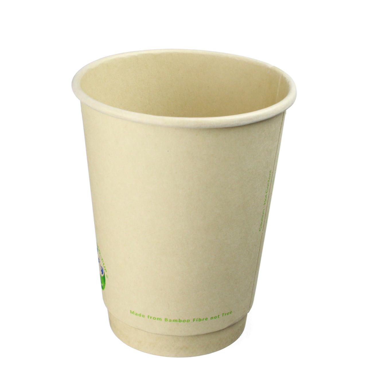 12oz Bamboo Fiber Biodegradable Hot Cups
